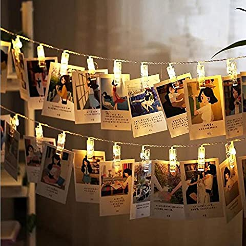 Tophie LED Foto Clips Lichterketten, 20 Photo Clips 2.2M USB