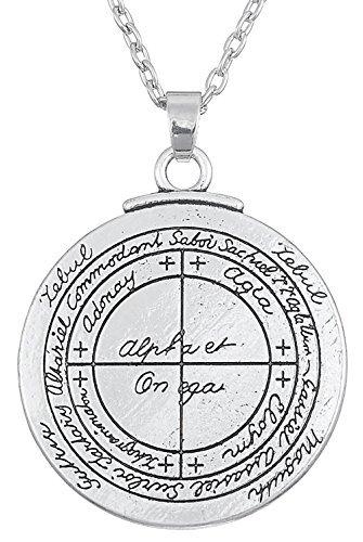 Colgante talismán antiguo para la buena suerte tipo sello de Salomón amuleto Kabbalah para hombre y mujer