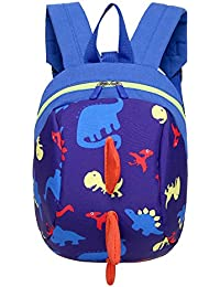 Unisex Infantiles Mochilas para Niñas Niño 3D Dinosaurio Backpacks Anti Perdidos 1-3 Años