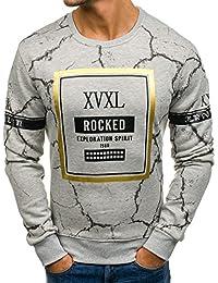 BOLF - Sweat-shirt - Pull de sport – avec impression – Col Roulé – Manches longues -Homme 1A1