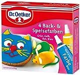 Dr. Oetker 4 Back- und Speisefarben, 3er Pack (3 x 40 g)