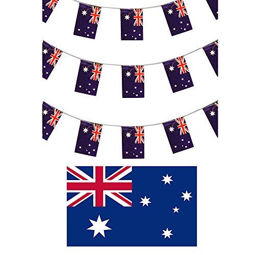 AUSTRALIAN FLAG WIMPELKETTE 10 M/9.14 METERS FLAG TAG, AUSTRALIEN-PARTY-DEKORATION, WORLD TASSE