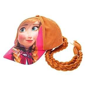 Frozen - Enfants - Casquette avec queue de cheval cheveux artificiels Reine des neiges