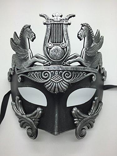 Four-Seasonstore New Roman Hercules Herren Maske Antike Griechische Masquerade Maske Silber (Sonne Göttin Kostüme)