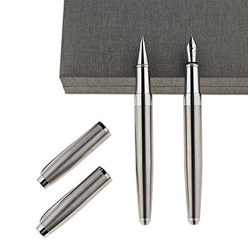 Füllfederhalter und Kugelschreiber Set feine Spitze Schönschreibfüller für einfaches Schreiben, Fancy und elegantes Design mit Geschenk Fall