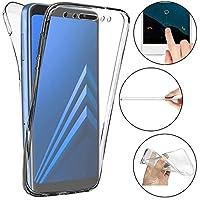 490b6b09de1 Funda Samsung Galaxy A8 2018,ToDo 360 grados Delantero + Trasero Protección  Transparente Suave TPU