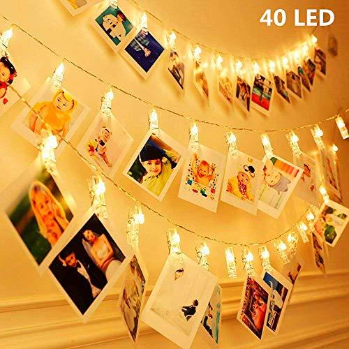 KNONEW LED Tira luminosa LED Clip - 40 pinzas fotos