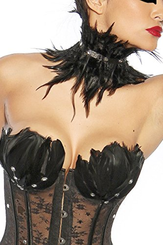 Black Swan / White Swan Corsage, Größe:M (Black Swan White Swan Kostüm)