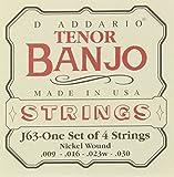 D\'Addario Cordes pour banjo ténor D\'Addario, nickel, 9-30