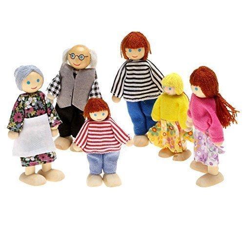 Arshiner 6-köpfige Puppenfamilie