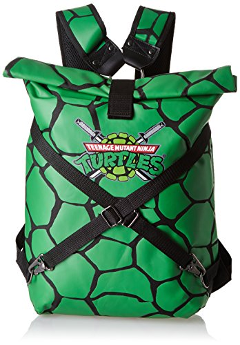 Teenage Mutant Ninja Turtles Unisex Erwachsene Rucksack, Grün, 44 cm (Ninja Turtles Shell Backpack)