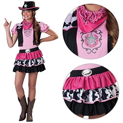 Amscan Cowgirl-Kostüm für Mädchen, mit Hut und Halstuch, Pink
