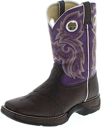 Mädchen Stiefel Durango Cowboy (FB Fashion Boots Durango Boots Lil´ Durango BT286 BT386 Brown Purple/Kinder Westernreitstiefel Braun/Kinderstiefel Lila, Groesse:37 (5 US))