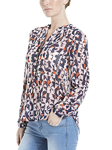 Bench Fluent Shirt Aop, Blouse Femme Mehrfarbig (Off White CR003)