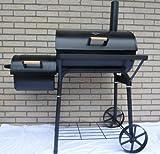32kg - KIUG® XL Smoker BBQ GRILLWAGEN Holzkohle Grill Grillkamin ca. 1,5 mm Stahl -