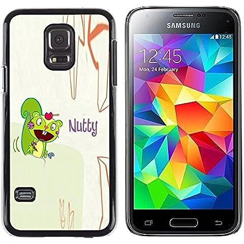 GooooStore/ Dura Custodia Rigida della copertura della cassa - Squirrel Mad Funny Quote Cartoon Drawing - Samsung Galaxy S5 Mini, SM-G800, NOT S5 REGULAR!