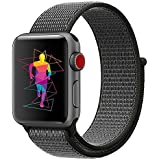 ieLive Sport Band for Apple Watch 42mm, Soft Lightweight Breathable Nylon Sport Loop Replacement Strap for iWatch Apple Watch