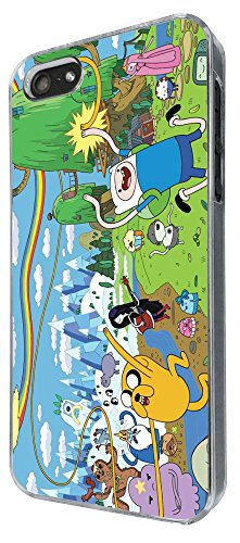 451 - Funny Adventure Time Cartoon Coque iPhone 4/4S Design Fashion Trend Case Back Cover Métal et Plastique