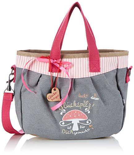 Adelheid Glückspilz m. Spruch Kindertasche 13150135525 Mädchen Mädchenhandtasche 28x24x9 cm (B x H x T)