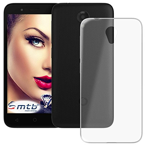 mtb more energy Schutz-Hülle Clear & Slim für Vodafone Smart prime 7 (5.0'') | transparent | flexibel | TPU Silikon Case Cover Tasche