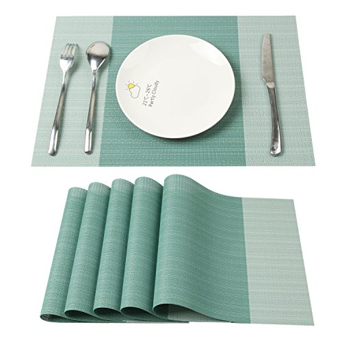 Tovagliette americane,homcomoda tovagliette all'americana lavabile tabella posto per la cena mats protector pranzo decorazione set da 6