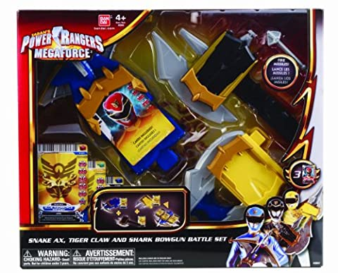 Power Rangers Megaforce – Set de Combat – Hache du Serpent, Griffes du Tigre & Arbalète du Requin – 3 Mini Armes +