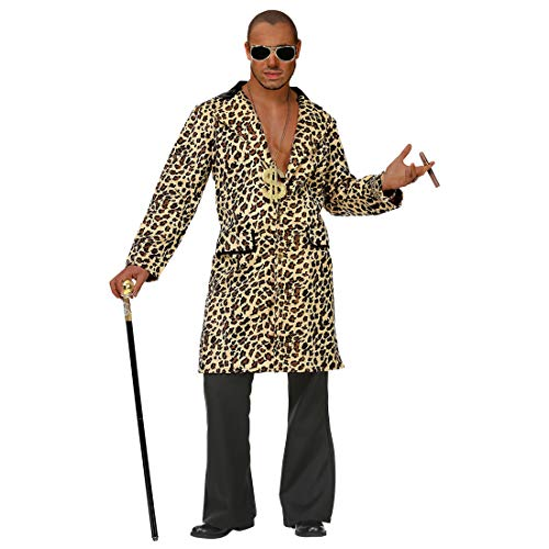 NET TOYS Zuhälter Kostüm Herren | Größe M/L (50/52) | Außergewöhnliches Männer-Outfit Pimp Gangster Rapper | EIN Highlight für Mottoparty & Karneval