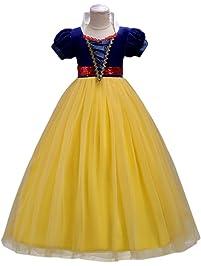 Vestidos niña Princesa Disfraz Traje Parte Blancanieves para boda Largo Gala De Ceremonia Fiesta Elegantes Comunión