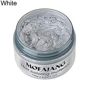 YSoutstripdu Pelo Color Cera Barro Tinte Crema, Temporal Unisex DIY Pomade Salon Herramientas 5 Colores