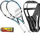 Babolat 2 x Drive Lite - Tennisschläger L3 + Covers + 3 Tennisbälle