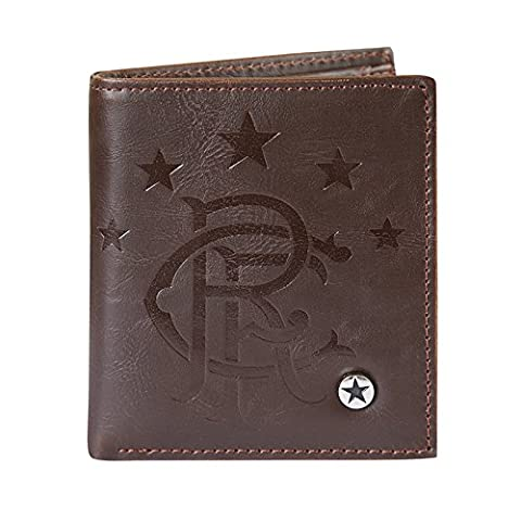 Rangers FC Official Football Gift Luxury Brown Faux Leather Wallet