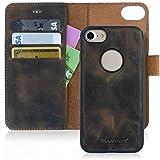 Blumax iPhone 8 iPhone 7 Ledertasche Echtleder Handyhülle/abnehmbare magnetische Hülle 4,7