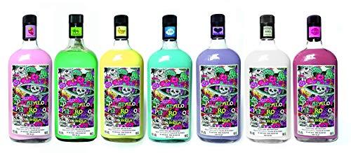 Patapalo Peligrosso Cremas con Tequila- CAJA COMBINADA 6 SABORES FRESA-NUBE-PLATANO-CHOCO BLANCO-MOJITO-MORA- Botella 1L