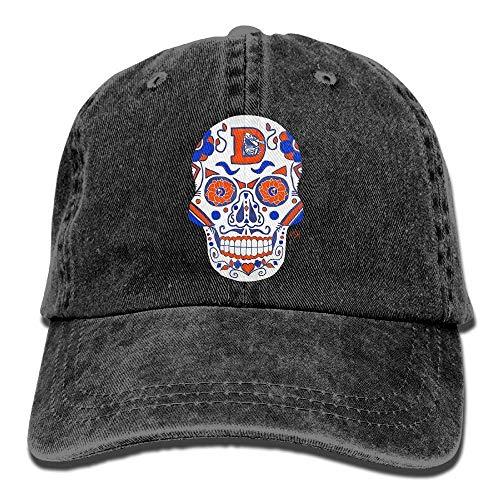 Denver Broncos Sugar Skull.png Erwachsene Cowboy-Hut-Baseballmütze-justierbares athletisches Erstellen des neuesten Hutes für Männer und Frauen Multicolor73