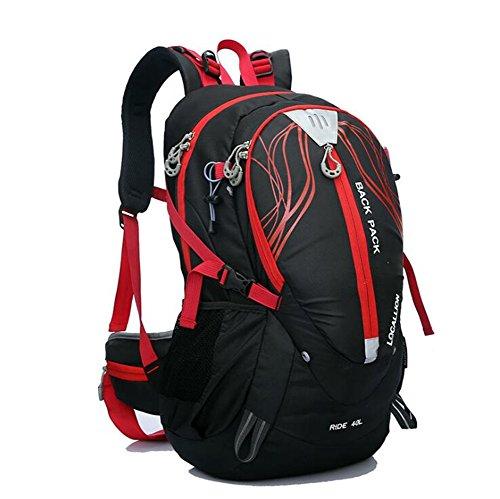 Wmshpeds Borsa di alpinismo 40L borsa a tracolla la staffa esterna arrampicata zaino borsa a tracolla impermeabile sportiva zaino B