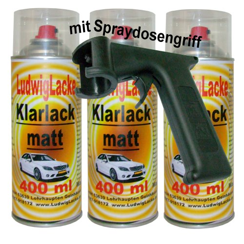 Preisvergleich Produktbild 3 Klarlackspray matt 400 ml je Spraydose +Spraydosenhandgriff