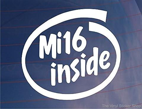 MI16à l'intérieur Design Voiture/fenêtre/Bumper Sticker–Idéal pour Peugeot 405/205/309