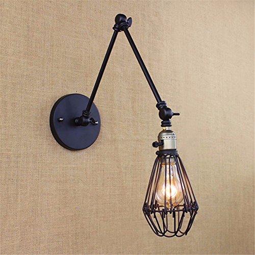 GaoHX Light Vintage Loft Industrial Oscilación Ajustable