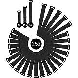 WINTEX 25 wiederverwendbare Klettkabelbinder in 3 verschiedenen Längen l 2 Jahren Zufriedenheitsgarantie | Kabelbinder mit Klett, Klett-Kabelbinder wiederverschließbar