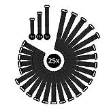 WINTEX 25 attache-câbles en velcro réutilisables en qualité premium - serre-câbles, colliers de serrage avec scratchs