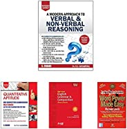 A Modern Approach to Verbal & Non-Verbal Reasoning (2 Colour Edition)+Quantitative Aptitude for Competitiv