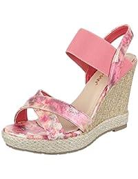 Keilsandaletten Damen Schuhe Plateau Keilabsatz/ Wedge Keilabsatz Ital-Design Sandalen / Sandaletten