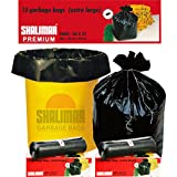 Shalimar Premium OXO - Biodegradable Garbage Bags (Extra Large) Size 76 cm x 94 cm 6 Rolls (90 Bags) ( Dustbin Bag / Trash Bag ) ( Black Colour )
