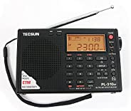 TECSUN PL-310ET FM Stereo/SW/MW/LW World Band PLL DSP Radio Black