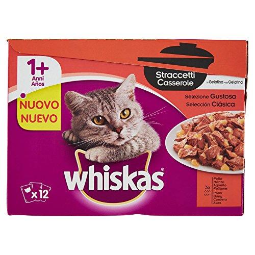 Whiskas Mpk Strac Gustoso Alimenti Umido F.Bassa Gatto, Multicolore, Unica