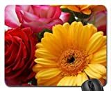 Strauß Rosen und Gerberas Mauspad, Mousepad (Blumen Mauspad)