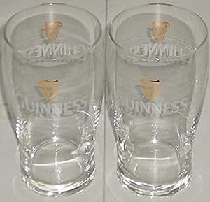 2 Stück Guinness Tulip Gläser 0,4l