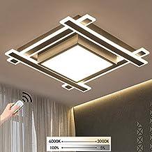 LED Deckenlampe Dimmbar eckig Deckenleuchte Wohnzimmerlampe Deckenstrahler Weiß
