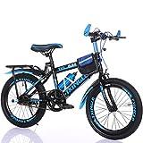 Kinderfahrräder Guo Shop 6-7-9-10-15 Jahre Alt Kinderwagen 18/20/22 Zoll Jungen und Mädchen Schüler Singlespeed Mountainbike (Farbe : Blau, Größe : 22