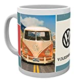empireposter - Volkswagen - Grid - Größe (cm), ca. Ø8,5 H9,5cm - Lizenz Tassen, NEU - Beschreibung: - VW Bulli Foto – Keramik Tasse, weiß, bedruckt, Fassungsvermögen 320 ml, offiziell lizenziert, spülmaschinen- und mikrowellenfest -